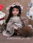 Collectible Porcelain Dolls - Dolls Porcelain Fairy Tales - Cinderella (small), porcelain bisque doll with painted eyes. Height 22 cm.