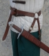 Swords and Ancient Weapons - Medieval Swords - Door sword belt leather available in two colors black and brown belt consists of a steel ring and adjustable straps