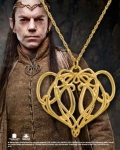 "World Cinema - Hobbit Jewelry - ELROND'S Brooch Pendant,Crafted in sterling silver and plated in 24K. Comes with 18"" chain."