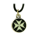 Jewellery - Templar Medieval - The Cross of Malta, it's the emblem of the military/monastic order of Malta. Knight of Malta pendant. Made of metal enamelled with hypoallergenic treatment, comes with his collar cotton.