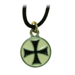 Jewellery - Templar Medieval - Templar pendant. Made of metal enamelled with hypoallergenic treatment, comes with his collar cotton.