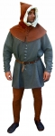 Medieval - Medieval Clothing - Medieval Costume (Man) - Fourteenth century dress includes surcoat, shirt, chasses, belt, cap in wool.