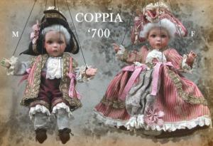 Mature 700 - Marionettes - 9 Rod, Collectible Porcelain Dolls - Puppets porcelain - Puppets with 9 joints porcelain bisque - Montedragone