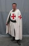 Medieval - Medieval Clothing - Templar dress in cotton clothing knight templar complete with tunic, cape, belt, shirt and headdress.