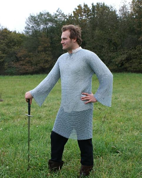 Chainmail Medieval Armor Sizes L Xl Id9mm Medieval