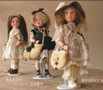 Collectible Porcelain Dolls - Porcelain Dolls - Bisque Porcelain Dolls - Collectible doll porcelain bisque certified Made in Italy. Size: 15 in -38 cm.