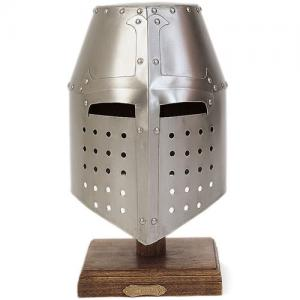 Helmet Templar Crusader, Armours - Medieval Helmets - Helmet Templar Crusader, great head protection air plates, bowls shaped pavilion wrapped with reinforced cross-shoeing.