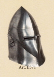 Armours - Medieval Helmets - Grand Venetian helmet in use during the Middle Ages, the great hidden variant characterized by the presence of pillows in Bavaria stopped by a stick.
