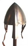 Armours - Medieval Helmets - Norman Nasal Helmet (an only skull protection) with noseguard, in use between the Xth-XIIIth century, best known as Norman because worn by that people on every european battlefield.