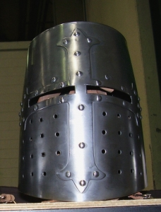 Helmet Templar, Armours - Medieval Helmets - Helmet Templar, great head protection air plates, bowls shaped pavilion wrapped with reinforced cross-shoeing.