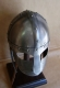 Armours - Medieval Helmets - Norman Helmet semi-spherical, with a metal mask to protect the eyes and nose, made entirely of iron, handmade with the application of a headset.