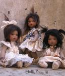Collectible Porcelain Dolls - Porcelain Dolls - Bisque Porcelain Dolls - Handmade dolls of bisque porcelain, height: 7/10.2 inches (18/26 cm).