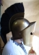 Ancient Rome - Greek Armour - Spartan helmet, fully wearable, metal helmet size only: 22 x 29 x 36 cm.