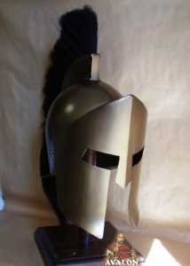 Spartan helmet, Ancient Rome - Greek Armour - Spartan helmet, fully wearable, metal helmet size only: 22 x 29 x 36 cm.