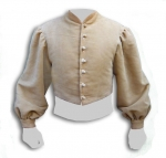 Medieval - Medieval Clothing - Medieval Fantasy Costumes - Bard short jacket, front closure with buttons, puffed sleeves with cuffs.