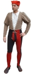 Medieval - Medieval Clothing - Medieval Costume (Man) - Full stretch from paintings by Signorelli, Perugino, Gerard Davids. Also available in individual parts.