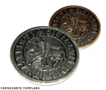 Medieval - Templars - Templars Objects - Available in bronze or silver metal with a bathroom. Diameter 8cm.