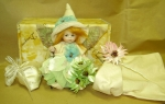 Collectible Porcelain Dolls - Dolls Porcelain Favors - Fairy porcelain bisque, handmade wedding favors, optionally available in different colors. height: 15 cm.