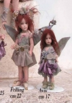 Porcelain Fairy Dolls - Porcelain Angels Dolls - Character collectible porcelain bisque, Aviv - Height: 17 cm.