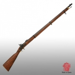Medieval - Firearms - Guns - The Enfield gun with rifled barrel and percussion mechanism, equipped the britannic army since the year 1853, Overall lenght 140 cms.