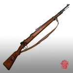 Medieval - Firearms - Guns - The rifle rifled and used by Nazi Germany during the Second World War. Playback not working. Total length 110 cm.