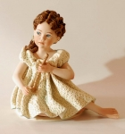 Sibania Porcelain Figurines - Girl porcelain figurine, Porcelain sculpture depicting a young girl, Gaia, height 22 cm (8.7 in), Wonderful porcelain sculpture, entirely handmade in Italy.