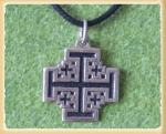 Jewellery - Tribal Ethnic - Pendant depicting the ancient Cross of Jerusalem