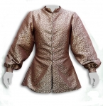 Medieval - Medieval Clothing - Medieval Fantasy Costumes - Doublet long, front closure with buttons, large puffy sleeves.