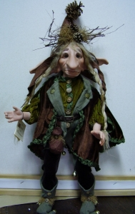Doll Gnome: Glosh, Porcelain Fairy Dolls - Porcelain Fairies Elves - Doll Gnome: Glosh, bisque porcelain personage, Height: 52cm, handmade doll,