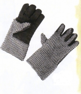 Chainmail Gloves - Chainmail Armor, Armours - Medieval Body Armour - Chainmail Gloves, Medieval Chain Mail, pair of Gauntlets covered outside mesh of iron rings,