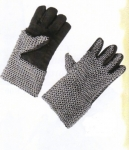 Armours - Medieval Body Armour - Chainmail Gloves, Medieval Chain Mail, pair of Gauntlets covered outside mesh of iron rings,