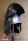 Armours - Medieval Helmets - Medieval Italian Knight Helmet, Helmet Horse fourteenth century used with the armour, equipped with mobile shield with slit for the eyes, ventaglia mounted on pivot pins and equipped with ventilation holes.