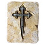 Medieval - Templars - Templars Objects - Tile Templar, object in resin,