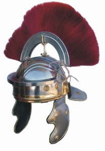 Roman Centurion Helmet with Crest From, Ancient Rome - Roman Helmets - Roman Imperial Gallic type helmet with a horsehair crest dyed red and put on a helmet.