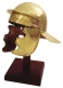 Ancient Rome - Roman Helmets - Made entirely of gilded iron, handmade, dimensions: 33x 33 x 25 cm