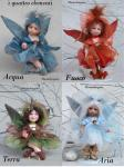 Porcelain Fairy Dolls - Porcelain Fairy - Porcelain Fairies - Fairy of the Elements, porcelain dolls of bisque, height: 8.7 in -(22 cm). Collection Montedragone. The price refers to a single doll.
