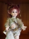Porcelain Fairy Dolls - Porcelain Fairies Elves - Doll elf: Kirin, bisque porcelain personage. Height: 35cm, handmade doll, Collection Montedragone. The price refers to a single doll: Kirin.