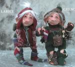 Porcelain Fairy Dolls - Porcelain Fairies Elves - Dolls Gnomes: Larch and Gelso, bisque porcelain personage. Height: 25/30 cm Mulberry - 25 cm Larch, handmade doll, The price refers to a single doll.