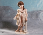 Sibania Porcelain Figurines - Girl porcelain figurine, porcelain sculpture depicting a little girl, Lavinia, height 36 cm (14.2 in), Wonderful porcelain sculpture, entirely handmade in Italy.
