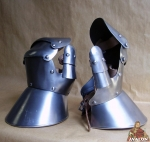 Armours - Medieval Body Armour - Knob Mitten - Only protection for the four fingers and the thumb separately, made entirely of iron and handmade with coietti leather to be worn.