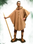 Ancient Rome - Roman clothing - Oval paenula (cloak) 1st-2nd cent, This style is seen in statues, tombstones and frescos.