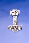 Jewellery - Celtic Jewellery - Hammer of Thor, Norse mythology, pendant, silver pendant 925/1000. Measurements: 2.5 cm x 1.5 cm.