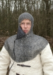 Armours - Medieval Body Armour - Haubergeon - Chainmail, This chainmail-shirt is shaped like a modern T-Shirt: short in length and short-sleeved. Well-priced and less in weight it is a perfect shirt for beginners.