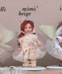 Collectible Porcelain Dolls - Dolls Porcelain Favors - Porcelain bisque doll, handmade wedding favors, optionally available in different colors. height: 13 cm.