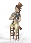 Sibania Porcelain Figurines - Sibania Porcelain Figurines - New - Porcelain figurine, sculpture depicting musician, height 18.11 in (46 cm). Beautiful statue porcelain handmade in Italy.