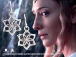 World Cinema - Hobbit Jewelry - GALADRIEL Flower Earrings, crafted in sterling silver. Comes with box set collection Hobbit.
