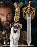 Mondo del Cinema - Hobbit Collection - Spada di Thorin dimensioni (78cm) in acciaio inox, fornita con supporto da muro.