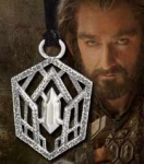 "World Cinema - Hobbit Jewelry - Thorin Belt Buckle pendant, crafted in Sterling Silver. Comes with 18"" chord. Comes with box set collection Hobbit."