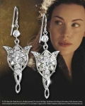 World Cinema - The Lord of the Rings - Jewellery - Gold and Silver - Earrings of Arwen - silver - Arwen silver earrings with crystals Swarovschi from the movie The Lord of the Rings