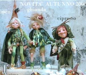 Acorn and Elderberry, Porcelain Doll, Porcelain Fairy Dolls - Porcelain Fairies Elves - Dolls Elves: Acorn and Elderberry, bisque porcelain personage, Height: 43cm, handmade doll. The price refers to a single doll.